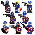 8 шт./лот Капитан Америка Super Heroes Малыш Детские Игрушки Фигура Строительные Блоки Устанавливает Модель Игрушки Фигурки Кирпича Совместимость с Lego