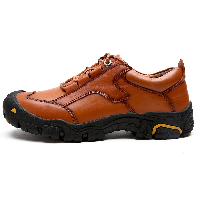 Ifrich New Arrival Hiking Shoes for Men Leather Trekking Shoes Man Lace Up Men Mountain Climbing Sneakers Cheap humtto new hiking shoes men outdoor mountain climbing trekking shoes fur strong grip rubber sole male sneakers plus size