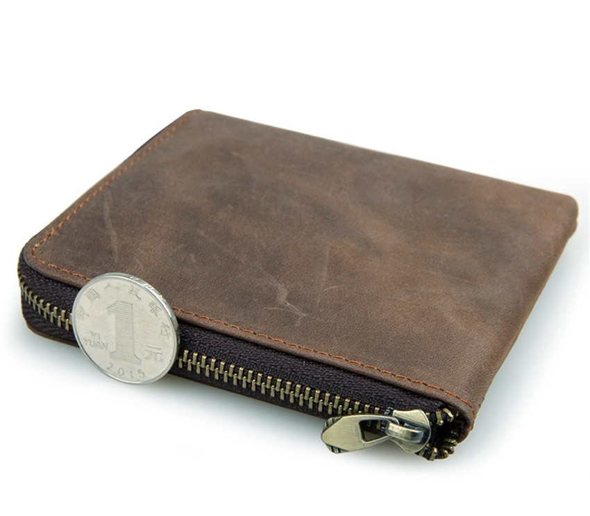 Vintage Genuine Leather Coin Pocket Unisex Wallet04