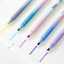 40 pcs/Lot Color on highlighter pen Dual-side Writing markers Fluorescent chalk Stationery Office School supplies FB723