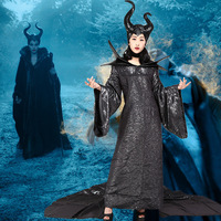 Devil Horn Dark Witch Adult Women Girls Maleficent Cosplay Costume Clothes Christmas Carnival Halloween Masquerade Fancy Dress