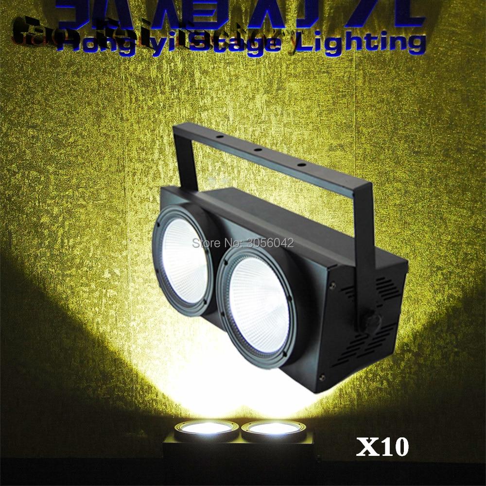 10pcs/lot 2X100w COB Eyes Led Audience Light for Stage TV Studio Church tv artel led 28 9000
