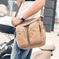 Dos homens de Alta Qualidade Canvas Sling Bag Crossbody Mochila Faculdade Mochila no Ombro Saco de Viagem Ocasional Sacos de Homens Mensageiro