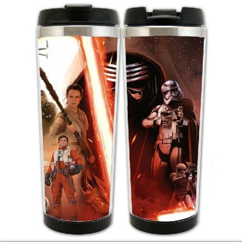 HOT SALE Star Wars 7 The Force Awakens Kylo Ren Rey Han <font><b>Solo</b></font> Models Stainless Steel Mug Coffee <font><b>Cup</b></font> Space <font><b>Cup</b></font> Water Mugs