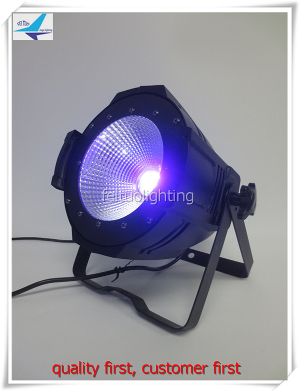 free shipping 6pcs/lot Led 100w UV Color COB Par Light DMX Spot Stage Effect Purple Par Can DJ Show Wedding Romantic Lighting 4pcs lot 100w cob led par can 4in1 rgbw color dmx 100w cob led par led dmx wash stage light ktv dj disco lighting free shipping