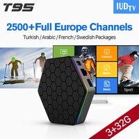 T95ZPLUS Android IPTV BOX Octa-core S912 3 GB WIFI H265 Media Player 2500 Europa Deutschland Spanien Arabisch Schweden IPTV kanäle