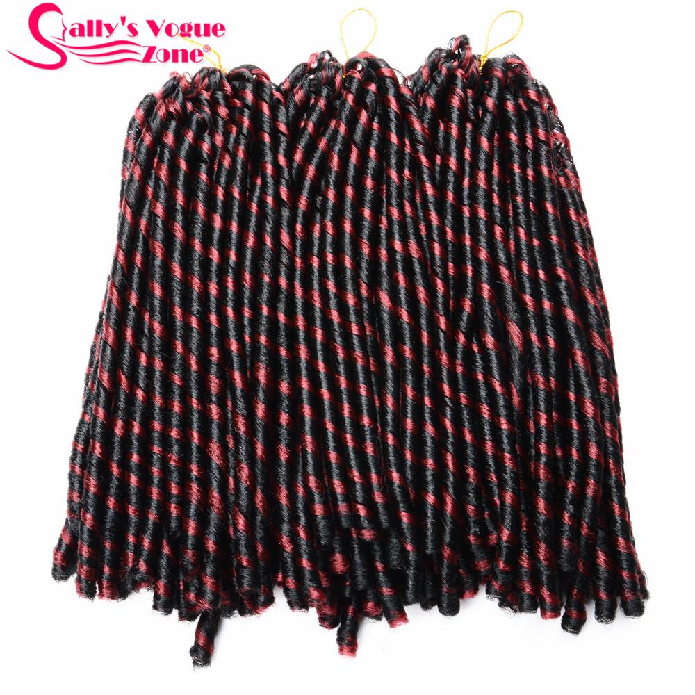24 Roots Faux LocsCrochet Hair 18 Crochet Faux Lock Dreadlock Crochet Braids hair Extensions Synthetic Braiding hair Soft lock (136)_