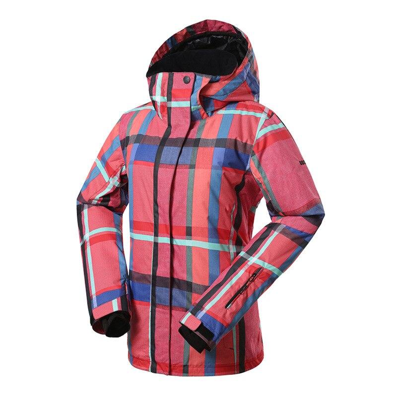 GSOU SNOW veste de Ski extérieure chaude pour femmes coupe-vent imperméable respirant simple Double planche veste de Ski pour femmes taille XS-L - 2