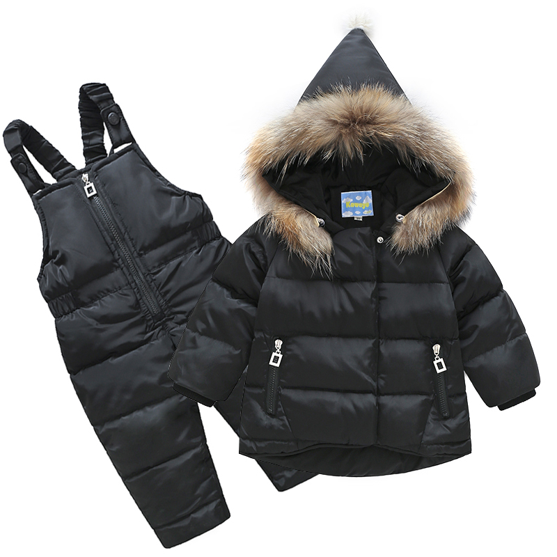 Children Down Jacket Two Pieces Suit Baby Girls Boy Raccoon Fur Collar Infant Clothing Casaco Inverno Infantil Menina Inverno штатив primaphoto phmrd black red 84278 page 1