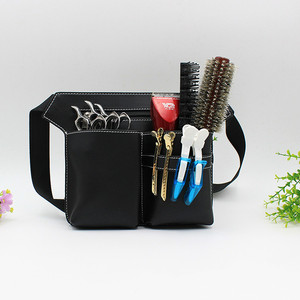 Image 2 - High quality pu leather Hair Scissor Bag Big Storage Space Hair Comb Shear Pouch Holder Case Belt Barber Hairdressing Tool Bag