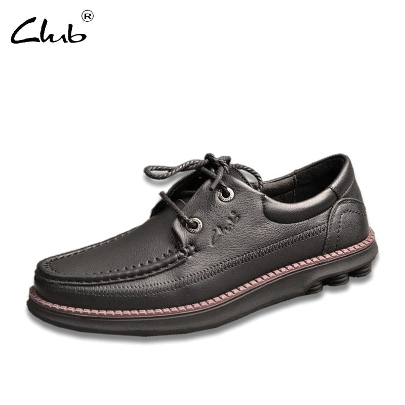 Club Brand High Quality Genuine Leather Shoes Men Flats Fashion Men's Casual Shoes Soft Comfortable Lace up Loafers Moccasins 2017 new brand breathable men s casual car driving shoes men loafers high quality genuine leather shoes soft moccasins flats