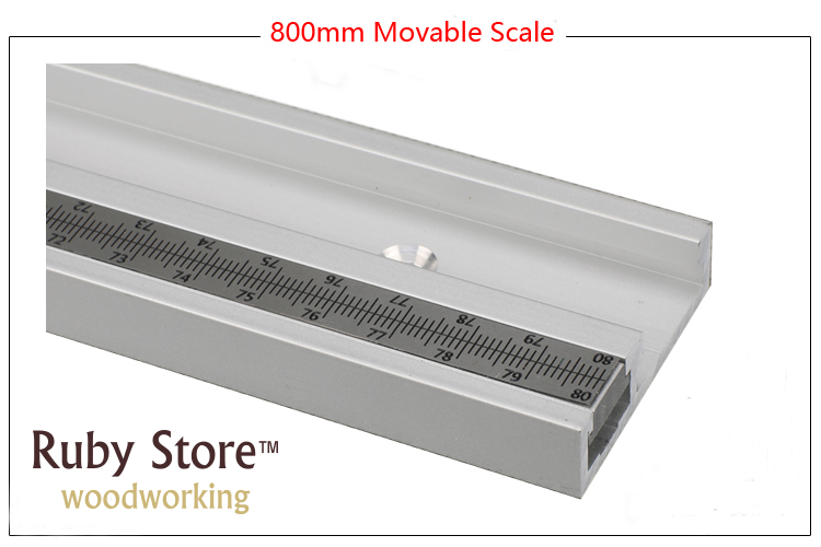 NEW 800mm (31.5inch) Standard Aluminium T track 45mm Thickness  Updated with Metric Scales| | |  - title=