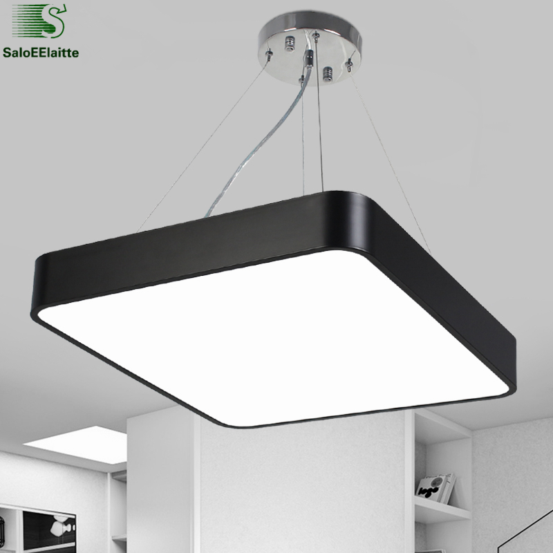 Modern Lustre luminaria Led Pendant Light Metal Dimmable Office Pendant Lamp Indoor Lighting Fixture Dining Room Suspension Lamp kangaroo pocket star embroidered drawstring pullover hoodie page 6