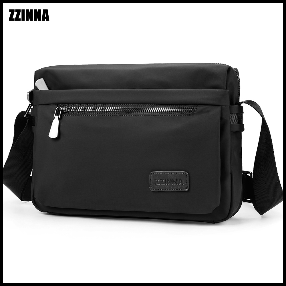 ZZINNA Casual Business Briefcases For Men Summer Sweatproof Portfolio Male Case Simple Style Murse Menssenger Bag Waterproof