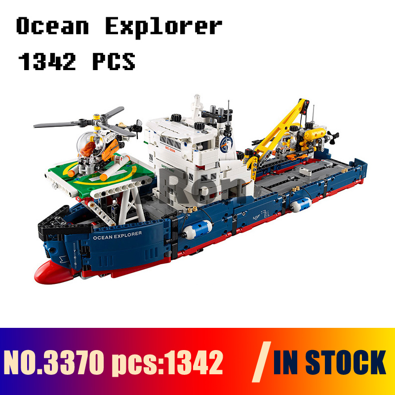 Compatible with lego 42064 Models building toy 3370 1342Pcs 2in1 Technic Series Ocean Explorer Building Blocks toys & hobbies 1347pcs techinic 2in1 ocean explorer