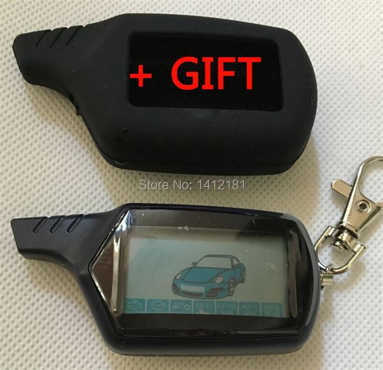 2-forma B9 LCD Control remoto llavero llave Fob para la versión rusa del vehículo de seguridad dos coche sistema de alarma twage Starline B9