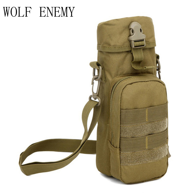 Army Fans Hot Molle Outdoor Sport Tactical Gear Water Bottle Pouch Kettle Shoulder Bag Hiking Climbing Camping Hunting Backpack