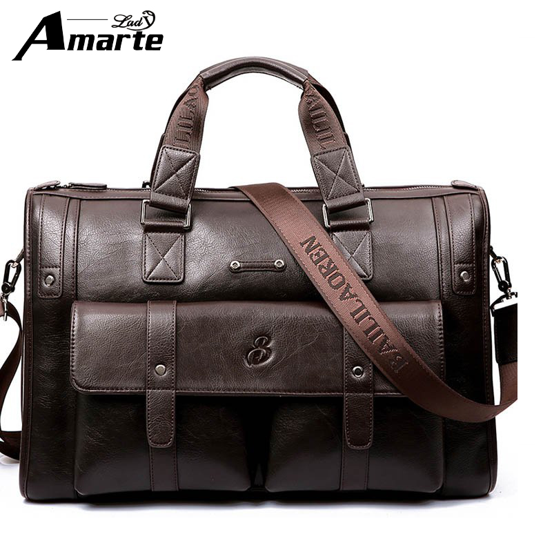Men PU Tote Business Handbag Leather Casual Men's Handbags Men Crossbody Bag Travel Bags Brifecase Bag For Man Shoulder bags