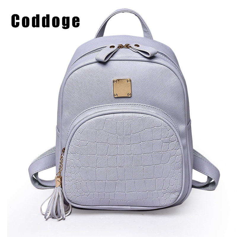 Fashion Preppy PU Backpack Women Backpacks Alligator School Bags For Girls Leather Softback Backpack Small sac