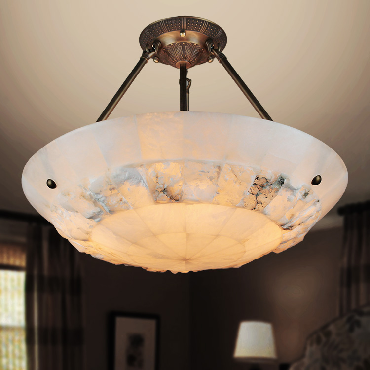 Simple single head European style living room bedroom dining room entrance hall marble lamp full copper ceiling light ZH a1 master bedroom living room lamp crystal pendant lights dining room lamp european style dual use fashion pendant lamps
