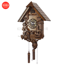 cuckoo clock, real wood reappeared, sitting room, goo goo chimes, refined small clock