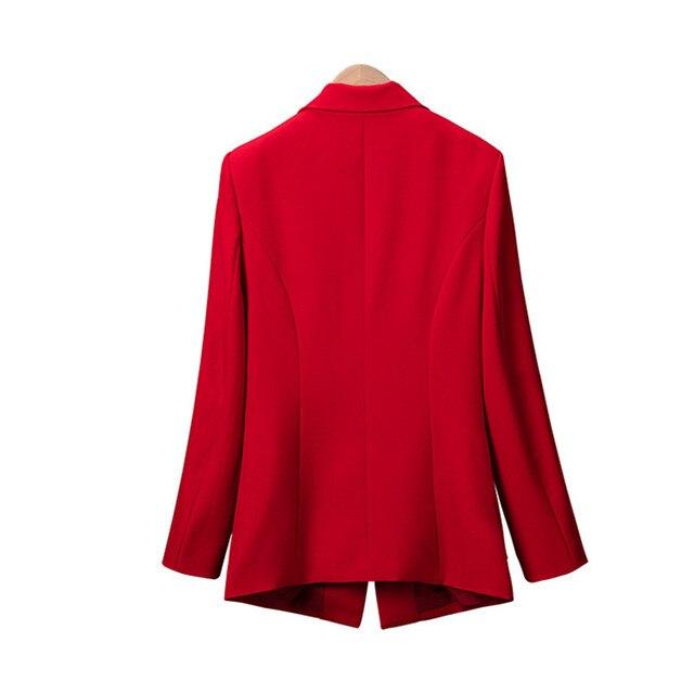 New 2018 Autumn Plus Size 7XL Women Blazers Long Sleeve Solid Blazer Fashion Asymmetrical Split Slim Outerwear 4