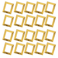 20 Pieces Miniature Gold Rahmen Photo Frame 1:12 Dollhouse Rooms Wall Decor(China)