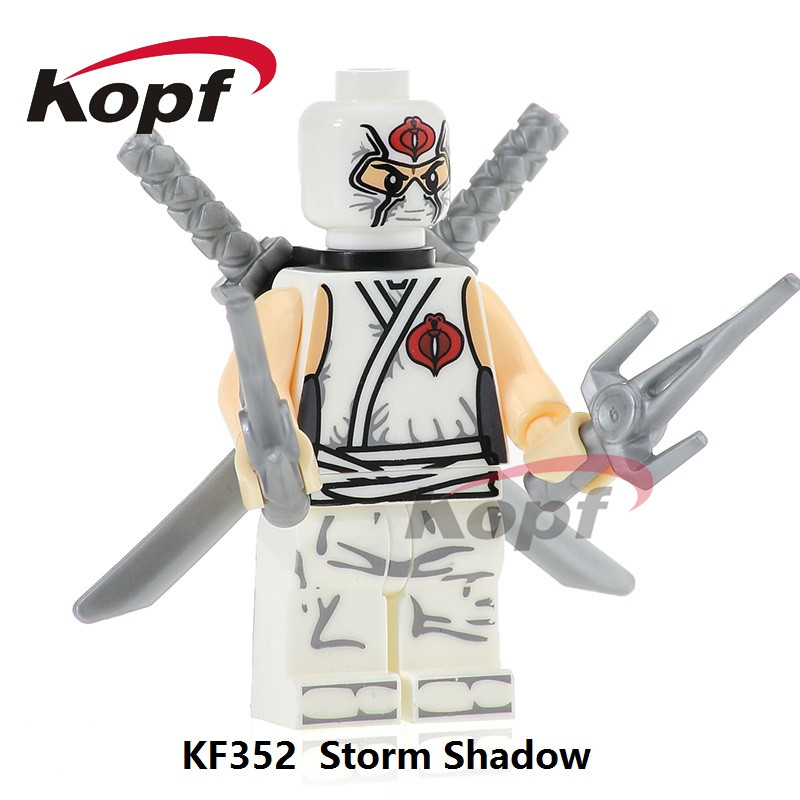 KF352 Super Heroes Gi Joe Series Storm Shadow Power Girl Snake Eyes Mumm-Ra Bricks Building Blocks Toys Collection For Children super heroes angel spike willow corderlia buffy the vampire slayer series building blocks collection toys for children kf6018