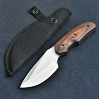 076 Stainless Steel 7CR17MOV 58HRC Hardness Fixed Blade Camping Hunting Knife