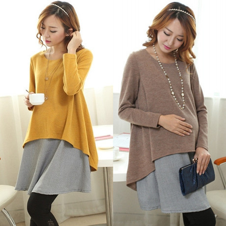 2016 Spring Maternity Clothes Nursing Dresses Fake Two-piece Long-sleeved Pregnant Dresses For Pregnant Women Premama Clothes2016 Spring Maternity Clothes Nursing Dresses Fake Two-piece Long-sleeved Pregnant Dresses For Pregnant Women Premama Clothes
