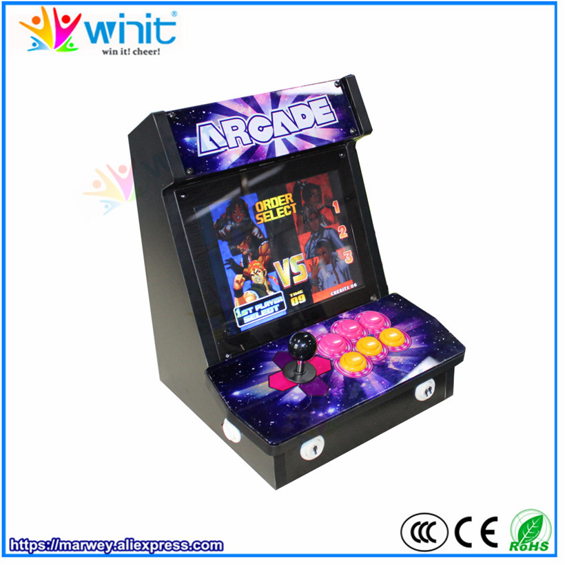 Marwey mini Pandora 4S arcade game station console 9 inch LCD video display screen wooden cabinet 680 games single player babies p 695i