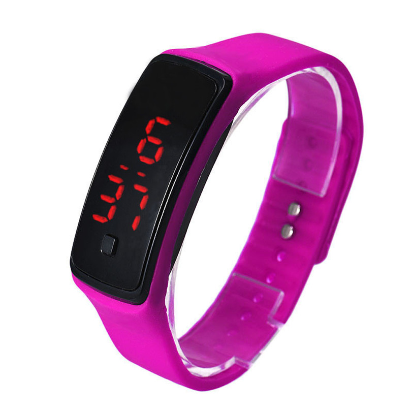 Superior Fashion Ultra rectangle Bracelet boys girls Touch LED Watch Sport digital men women unisex jelly Watches Dropshipping new fashion design unisex sport watch silicone multi purpose date time electronic wrist calculator boys girls children watch
