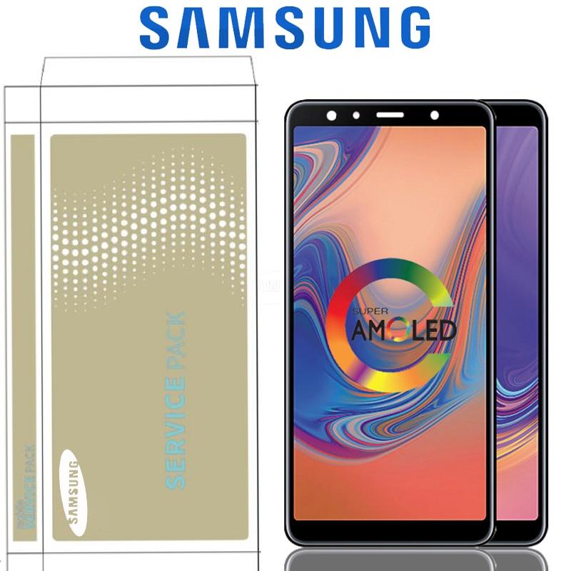 6 0 Original Super AMOLED LCD For Samsung Galaxy A7 2018 A750 SM A750F A750F Display