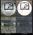 AO075 trípode publicidad globo ligero inflable al aire libre/luz led inflatabe globo polo, 1.5 m globo de pie para el partido
