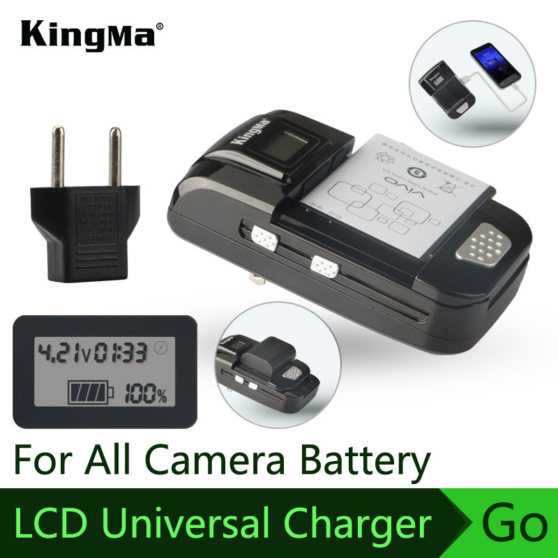 Universal charger FOR GoPro/Xiaomi yi/Mobile/Video camera/Camera battery Intelligent USB Multi function charger Direct plug ...