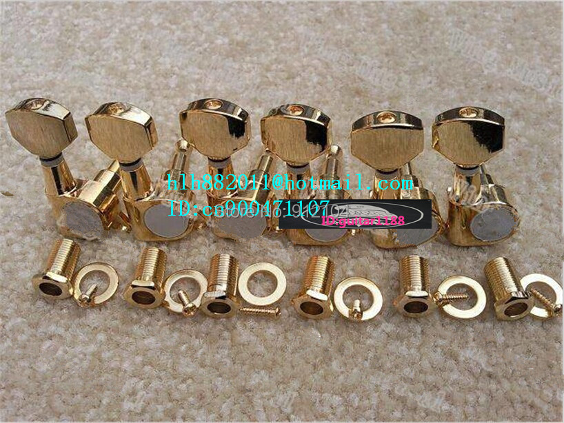 free shipping new electric guitar tuning peg in gold guitar button for one side of the guitar  8237 pupa