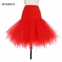 Enaguas Jupon Evening Dress Underskirt Short Tulle Dance Skirt Wedding Petticoats Unterrock BV 053
