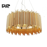 Italy Design Delightfull Brubeck Pendant Lights Gold Aluminum Alloy Tube Contemporary Suspension Luminaire Fashion Project Lamp