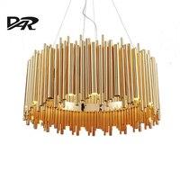 Italy Design Delightfull Brubeck Pendant Lights Gold Aluminum Alloy Tube Contemporary Suspension Luminaire Fashion Project Lamp