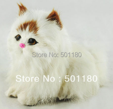 Free Shipping Real Looking Cat Animal Toy Cat Mascot Real Plush Cat
