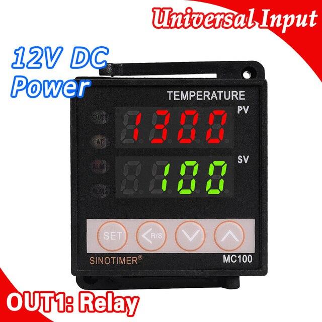 Alimentazione 12 V DC Digitale Intelligente Regolatore di Temperatura PID Termostato Regolatore Termocoppia K/J sensore di Ingresso Uscita A Relè
