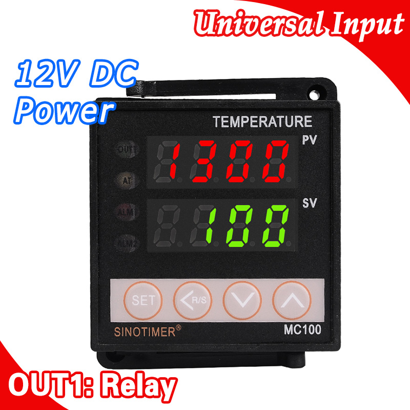 Power 12V DC Digital Intelligent PID Temperature Controller Regulator Thermostat Thermocouple K/J sensor Input Relay Output