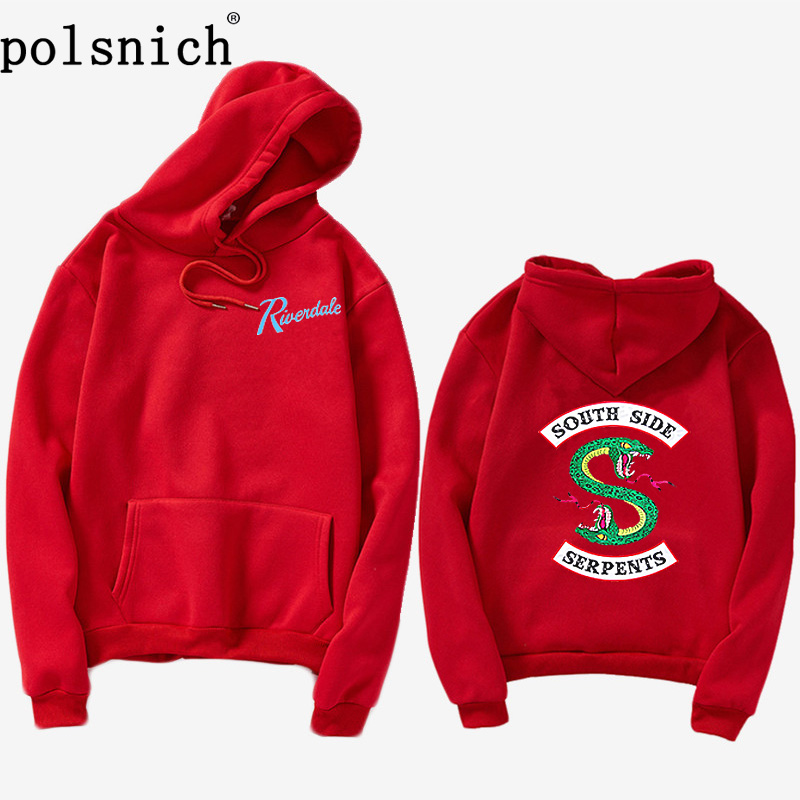 2019Einfarbig Hoodie Damen Riverdale South Side Schlange Sweatshirt Riverdale Frau hip hop schlange South Side Hoodie Jacke