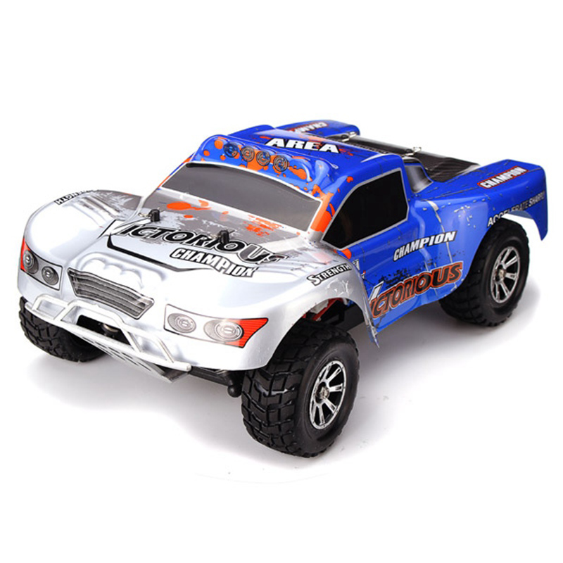 New RC Car a969-b 1/18 2.4Ghz 4WD drive RC Remote Control Truck max speed 70kg/h 1400MAH battery Free shipping kingtoy detachable remote control big digger size kingtoy fun 1 28 multifuncional rc farm trailer tractor truck free shipping