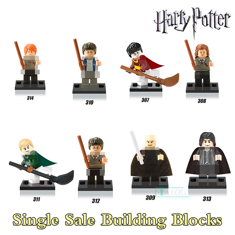 X0121 Hermione Half-Blood Prince Ron Lord Voldemort Harry Potter Figures Collection Building Blocks Kids Toys Xmas Gift Dolls harry potter professor dumbledore hermione ron fred george death eater assemble building blocks diy figures bricks kids toys