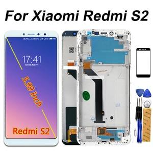 Image 1 - IPS LCD Display Voor Xiaomi Redmi S2 Touch Screen Digitizer Vergadering Frame Voor Xiaomi Redmi S2 LCD 5.99 inch Glas film