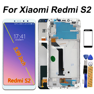 Image 1 - IPS LCD תצוגה עבור Xiaomi Redmi S2 מגע מסך Digitizer הרכבה מסגרת עבור Xiaomi Redmi S2 LCD 5.99 אינץ זכוכית סרט
