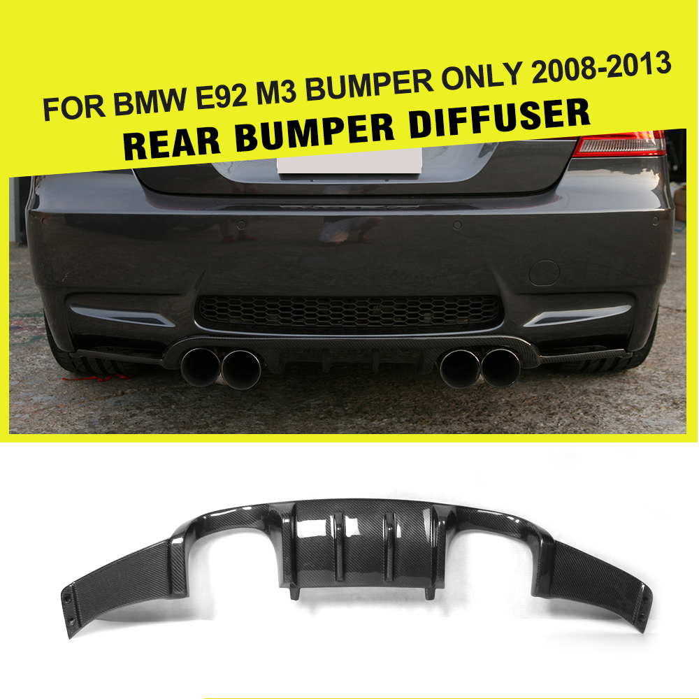Car-Styling Carbon Fiber / FRP Black Auto Rear Bumper Guard Lip Diffuser for BMW E92 M3 2008 - 2013 Add On Style car styling frp auto body kits bumper for bmw e70 x5 2008 2013
