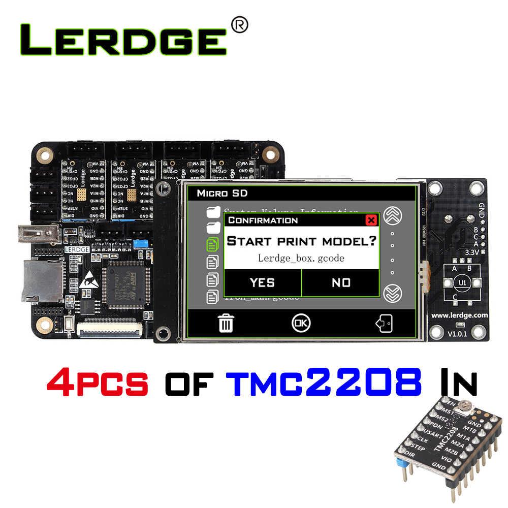 LERDGE-X 3Dบอร์ดเครื่องพิมพ์ 32bitสำหรับควบคุมบอร์ดเมนบอร์ดSTM32 ARM 32 บิตMainboard Tmc2208 Lv8729 TMC2209