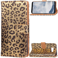 S8 Sexy Women Leopard Print Wallet For Samsung Galaxy S8 Case Covers Flip TPU Leather Cases